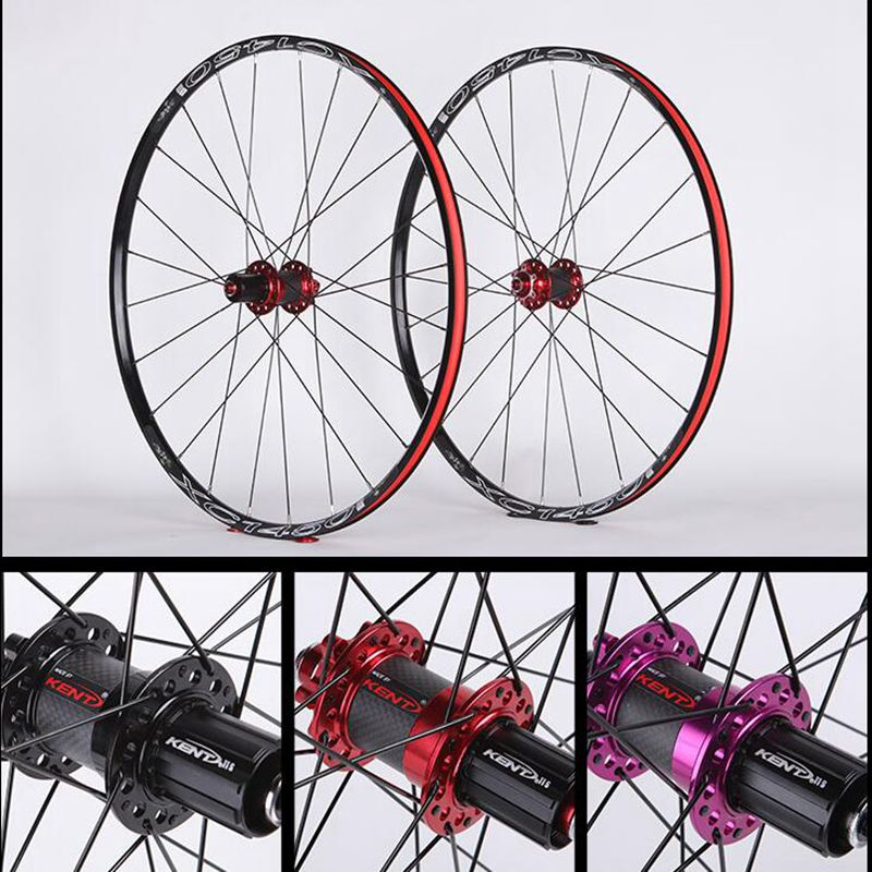 KENT XC1450 mountain bike wheel 26 27.5 inch bicycle wheel carbon fiber bucket drum shaft 142x12 15x100 9MMQR