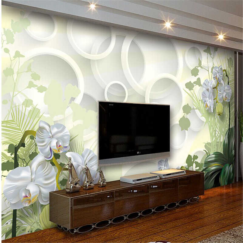 beibehang 3d wallpaper three-dimensional flowers tv background brief mural clivia seamless mural papel de parede wall paper