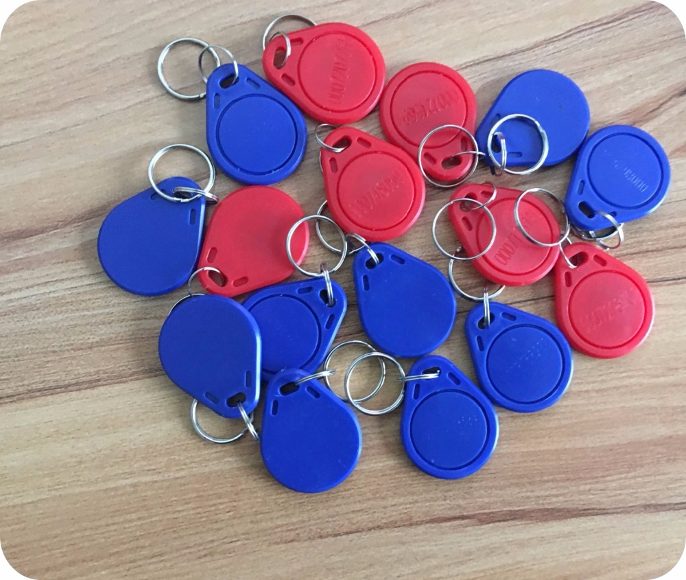 Ic/id Card Uid Changeable Writable Keyfobs Key Nfc Tags Keychain M1 Ic 13.56mhz Block 0 Sector Writable Access Card 1500pcs