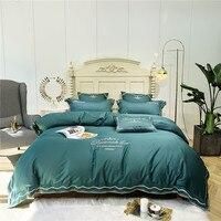 1904024 качество 60 египетского длинноволокнистого хлопка вышивка одеяло постельное белье 100% хлопок сатин постельное белье комплект роскошные