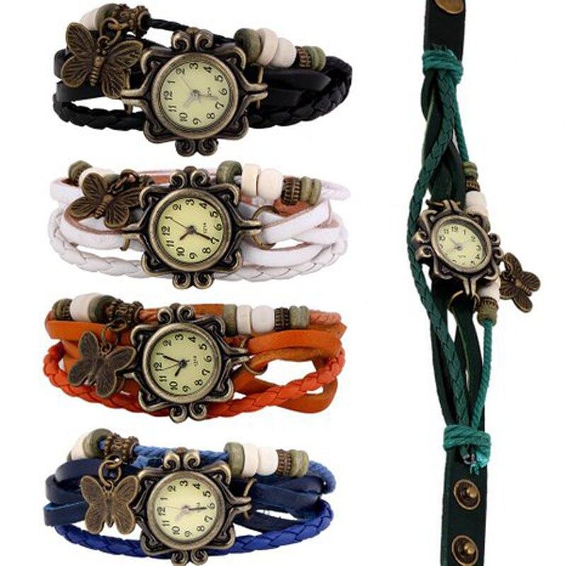New Wholesale Lot of 5pcs Womens Girls Butterfly Bracelet Wrist Watches box of 5pcs 110q2g43 new