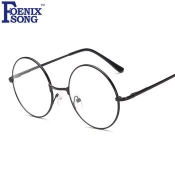 Foenixsong جولة نظارات القراءة الرجال النساء oculos دي غراو للجنسين جديد خمر واضح عدسة النظارات القارئ نظارات HH1862