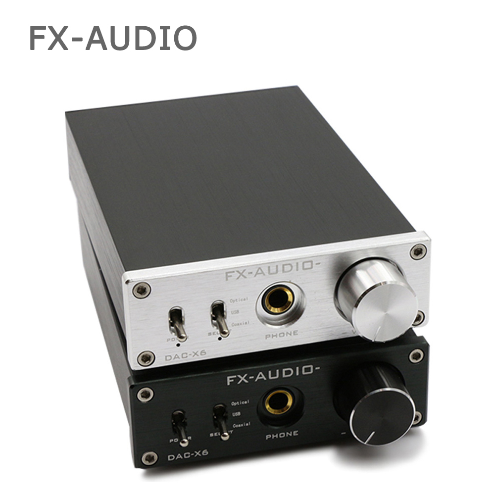 FX-Audio Feixiang DAC-X6 fever MINI HiFi USB Fiber Coaxial Digital Audio Decoder DAC 16BIT / 192 amplifier amp TPA612 3206 amplifier aluminum rounded chassis preamplifier dac amp case decoder tube amp enclosure box 320 76 250mm