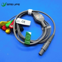 2018 Jincomed holter ECG cable 10 lead snaps