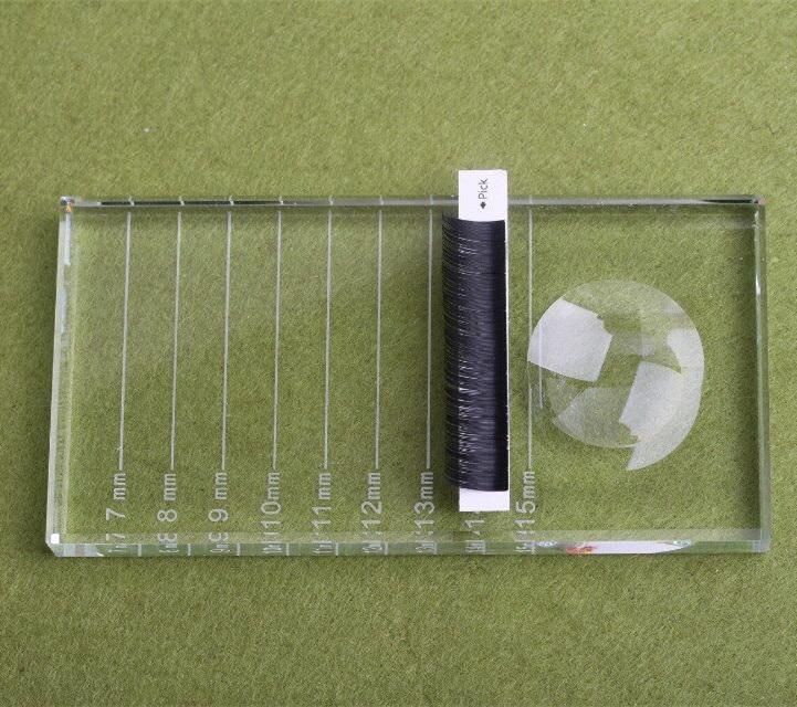 Tesoura de Maquiagem transparente retangular pallet Cílios Postiços Terrier : Outros