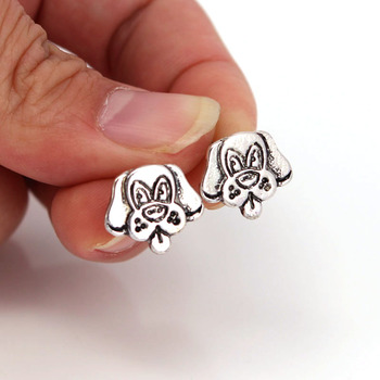 hzew new Irish Wolfhound Stud Earrings dog earring gift image