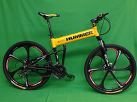 26 18 Inch Aluminum Alloy Mountain Bike 21 Speed Folding Complete Bicycle