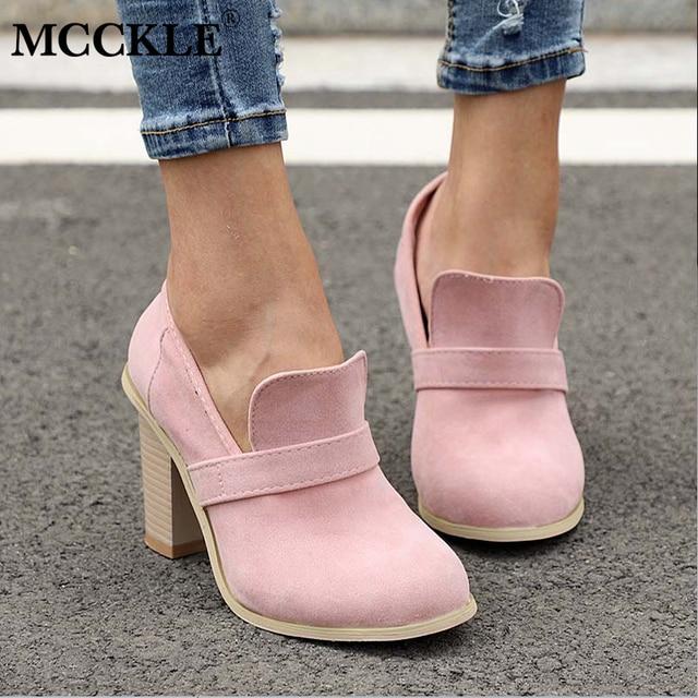 Sonbahar Kadın Platformu Rahat yarım çizmeler Kadın Süet Kayma Takunya Yüksek Topuklar Ayakkabı Bayanlar 2019 Moda Ayakkabı Artı Boyutu