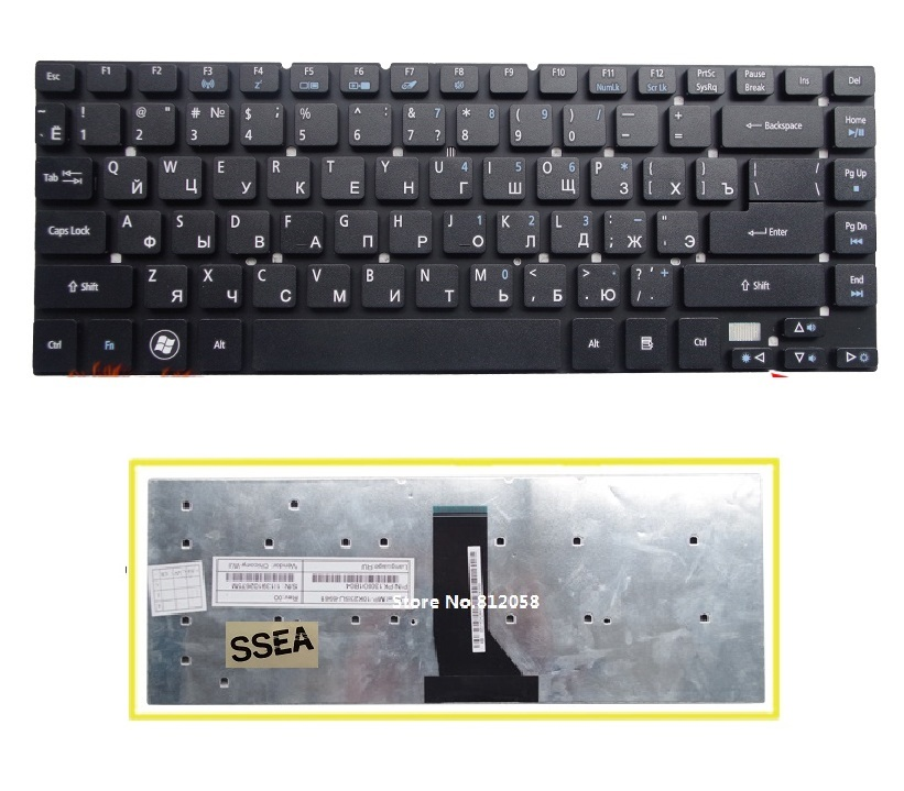 SSEA New Russian keyboard RU for <font><b>Acer</b></font> <font><b>Aspire</b></font> 3830 <font><b>4830</b></font> 3830G 3830T 3830TG 4830G 4830T <font><b>4830TG</b></font> V3-471 keyboard no frame image