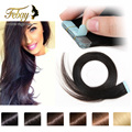 Cheap tape in human hair extension 20pcs/lot double drawn brazilian virgin hair Tape Hair free shipping tape hair extension