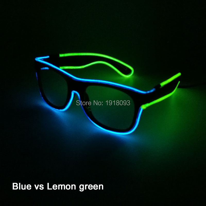 DC 3V Steady on Driver + EL Wire Glasses Glowing Wholesale Product for Night Club Dance Stage Design Novelty Light
