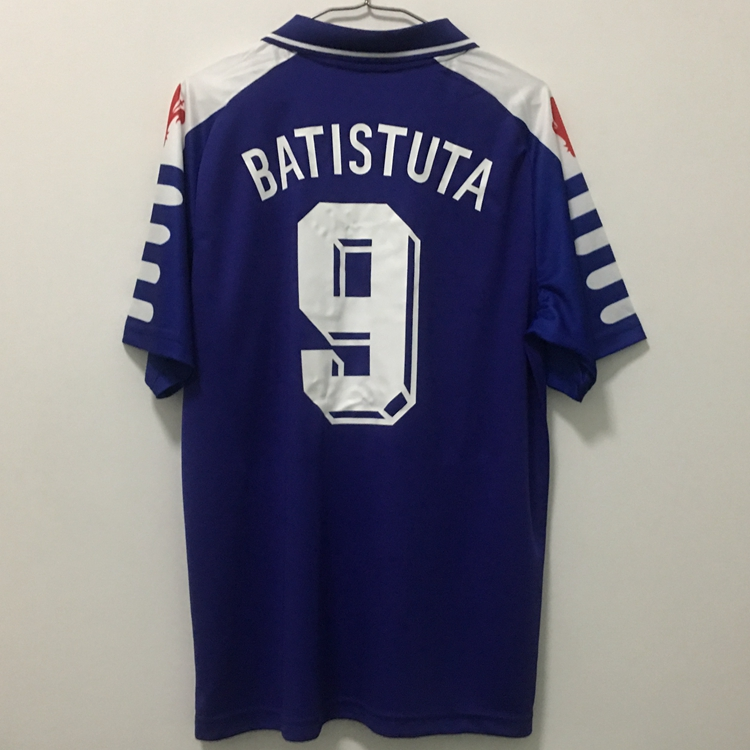 Men Shirt COSTA Limited-Edition RUI Hero 1999 Retro Blue 1998 FLORENCE Sample BATISTUTA