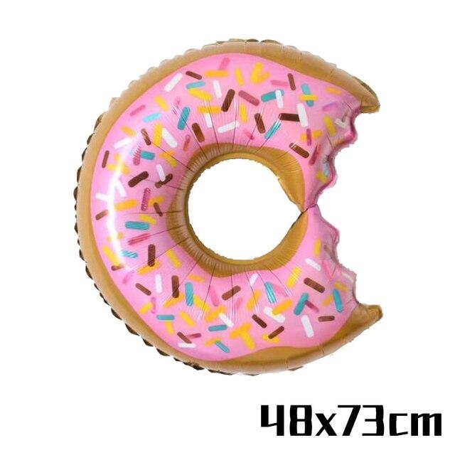 Big Donut Balloon Monkey 1st birthday decorations 5c64f9ae5e23e