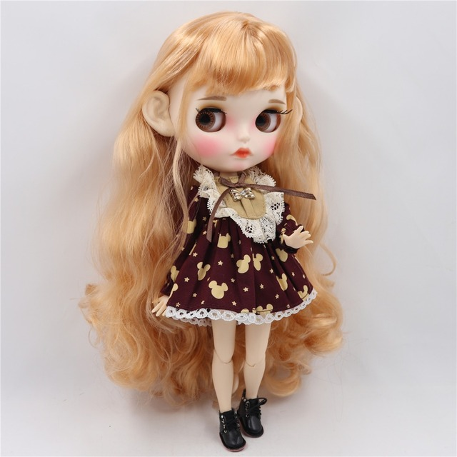 Maya - Premium Custom Blythe Doll with Clothing Pouty Face