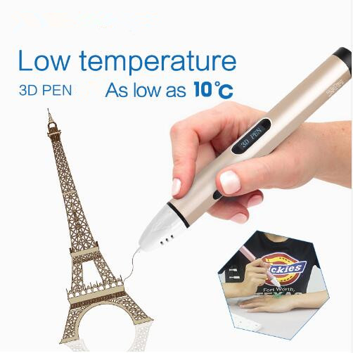 ФОТО JoyLites High-grade 3D Pen For Birthday Gift With Free PCL Filament Low Temperature Protection USB 3D Magic Pen Free Shipping