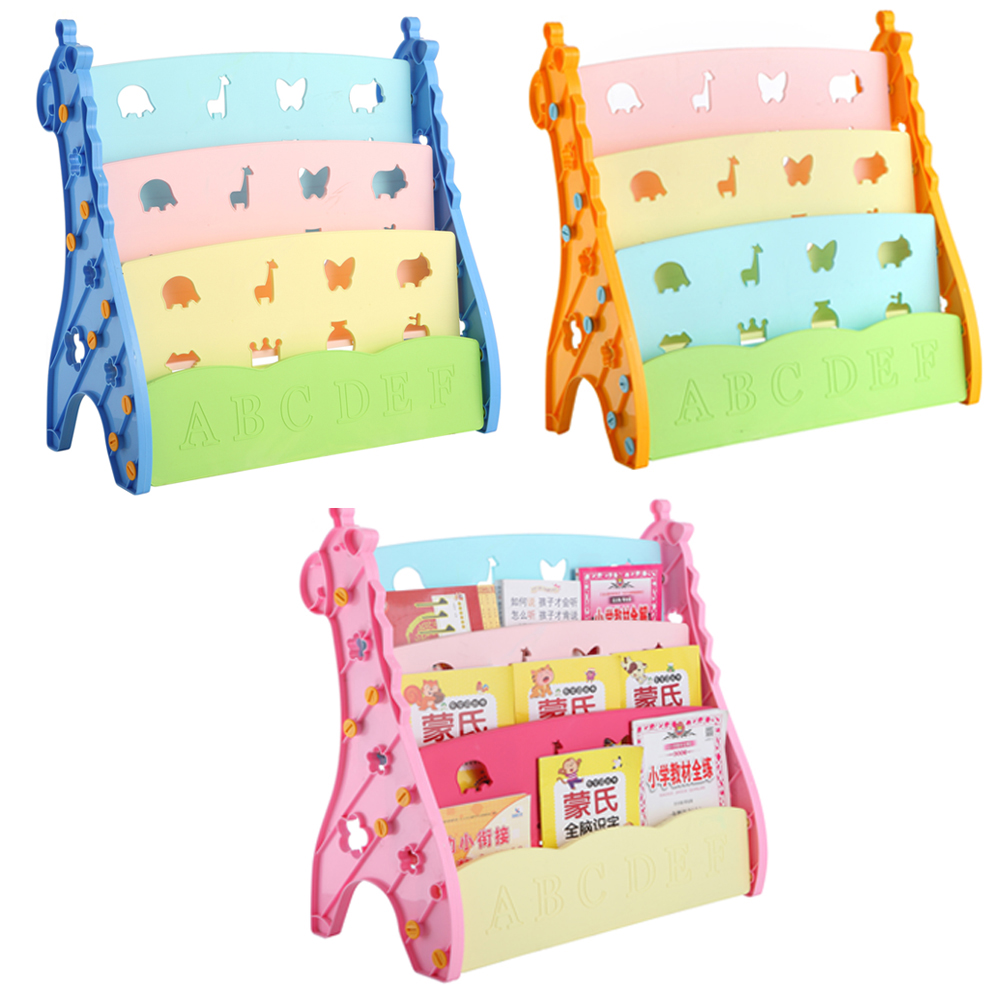 Colorful Kids Book Storage And Display Cabinet, Baby Children Bookshelf