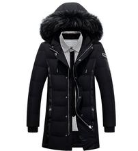 Long Thickening In Men's Down Jacket To Keep Warm Big Yards Hooded Men's Coat