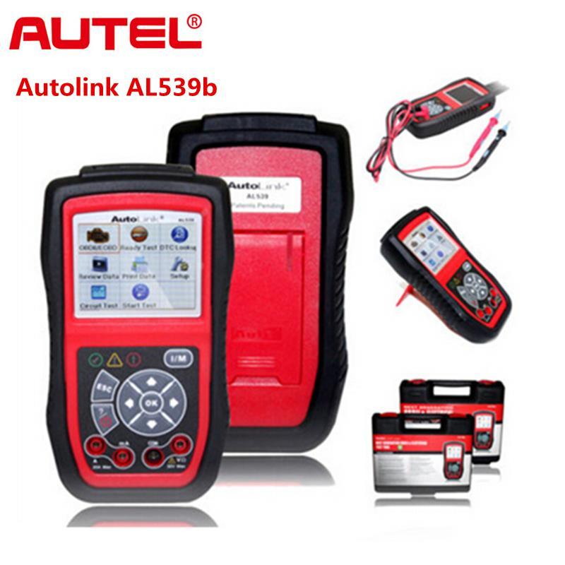 Autel autolink al539b obdii lector de código auto herramienta de prueba eléctrica al 539b 539 b scanner automotriz escaner automotriz envío gratis