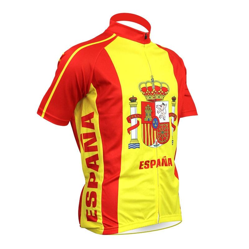 Espana yellow Cycling jersey ropa Ciclismo bike wear