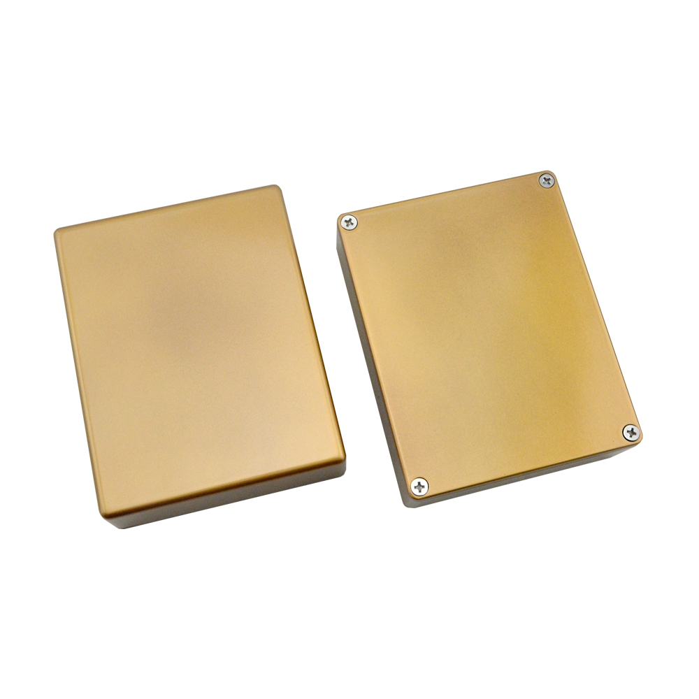 2x1590bb Style Effects Pedal Aluminum Stomp Box Gold Enclosure With Wiring Harness 3pdt 8 Screws For Guitar Parts Accessories In From Sports
