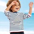 Monkids Boys t Shirt Stripe Ruffle Raglan Long Sleeve Cotton t-Shirt Boy Kid Clothing Children's Tees Children's T-Shirts