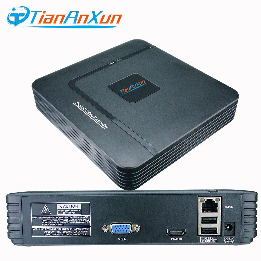 Tiananxun Surveillance Video Recorder Mini Nvr 1080P 4Ch 8Ch Onvif For Ip Cameras Cctv Security System