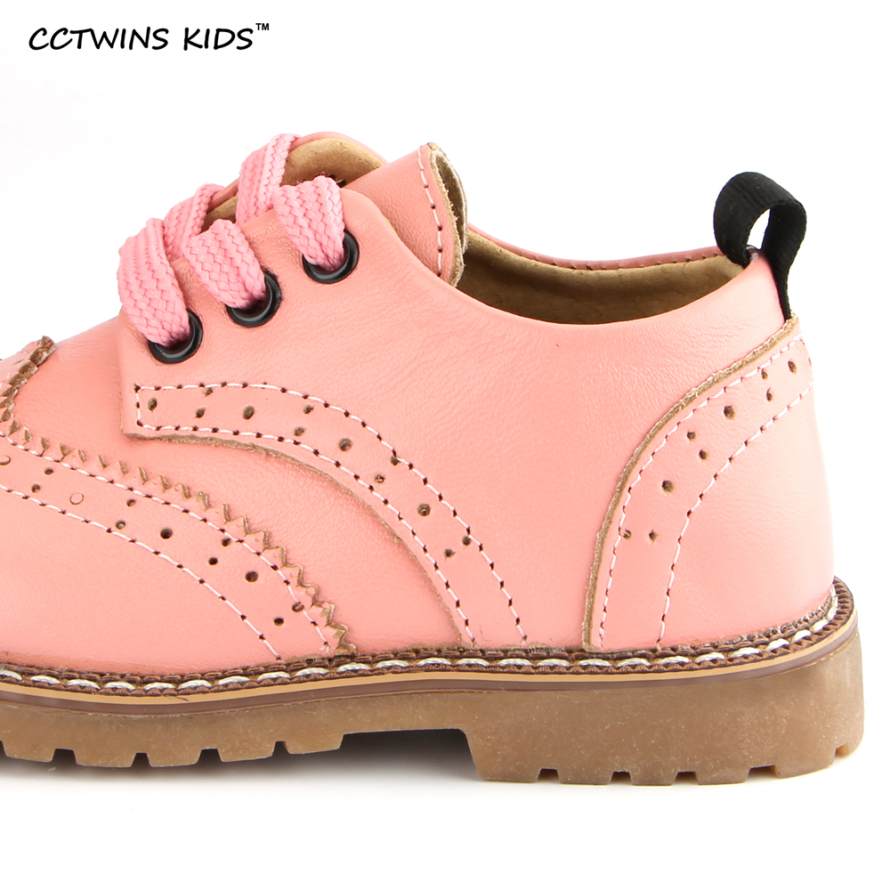 CCTWINS-KIDS-2017-spring-autumn-child-pink-flat-genuine-leather-toddler-fashion-shoe-baby-girl-brand-loafer-oxford-white-G9771-2