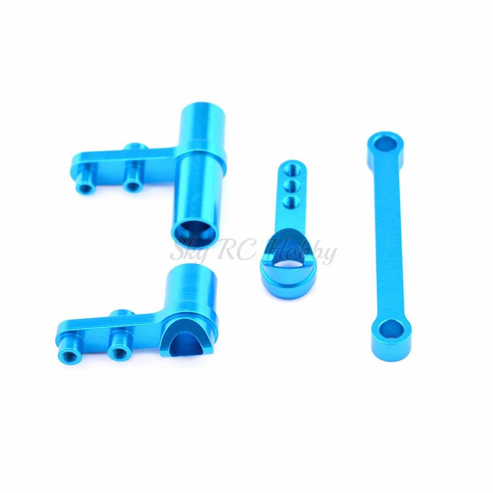 HSP 102057 102257 122257 Aluminium Steering Servo Saver Compleet Set Upgrade Onderdelen Voor RC 1: 10th RC Model Auto 02025 02075