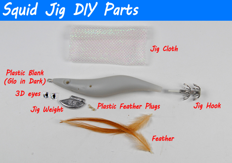 Squid Jig Japanese Clothed Body EGI Squid Jigs #2.5  GLOW IN DARK  Re-stocked