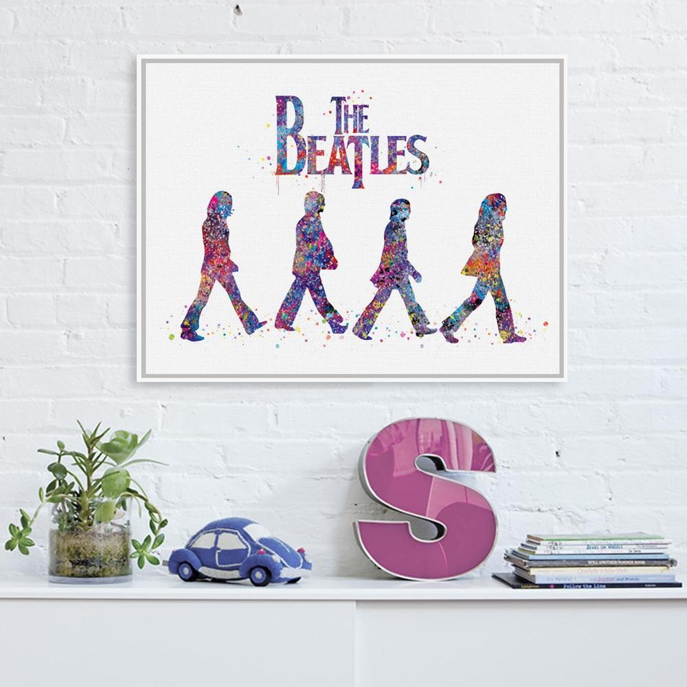 online get cheap celebrity pop art aliexpress com alibaba group original watercolor beatles living bed room modern wall art a4 large pop rock music celebrity poster