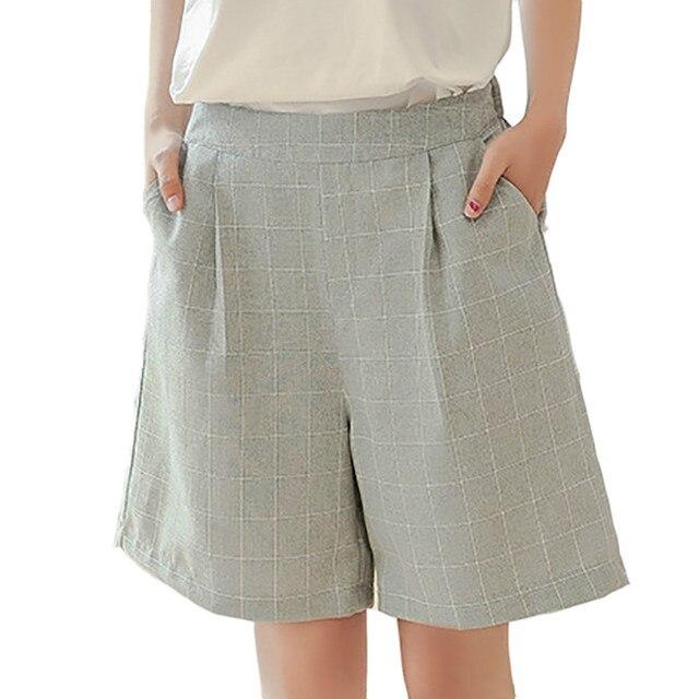 Aliexpress.com : Buy Summer Fashion Women Shorts Cotton Linen ...