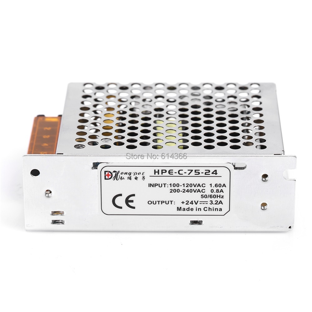 1PCS 75W 24V 3.2A power supply for industrial control LED drive AC to DC power suply 24V 75w power supply 100-240VAC 1pcs 60w 12v 5a power supply ac to dc power suply 12v 60w power supply 100 240vac 111 78 36mm