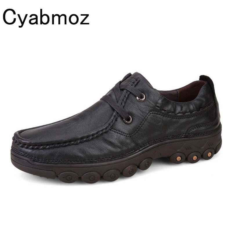 Cyabmoz Brand Italy Style 38-46 Fashion Handmade Genuine leather men Oxfords Moccasins Casual Shoes Thick Bottom Platform Shoes cyabmoz 2017 flats new arrival brand casual shoes men genuine leather loafers shoes comfortable handmade moccasins shoes oxfords