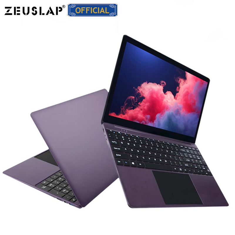 15.6 polegada 6 GB RAM + 64 GB eMMC + 256 GB SSD de 1920x1080 P Full HD IPS tela Intel Quad Core CPU Metal Ultrabook Computador Portátil Notebook