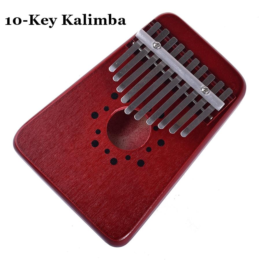 10 Schlüssel Kalimba Afrikanische Daumen Klavier Finger Percussion Tastatur Musikinstrumente Kinder Spielzeug Marimba Holz Karimba Kind Elegant Im Stil