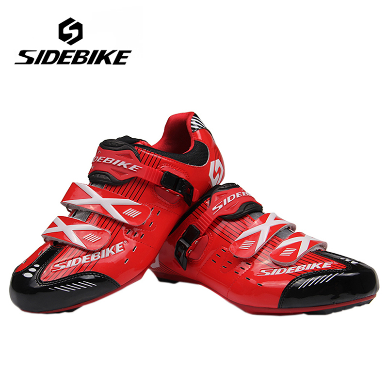 SIDEBIKE Professional Road Bike Racing Self-Locking Shoes Bicycle Cycling Air-flow Vents Soles Shoe Outdoor Sports Athlete Shoes sidebike mens road cycling shoes breathable road bicycle bike shoes black green 4 color self locking zapatillas ciclismo 2016