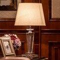 Agradável regulável lâmpada de cabeceira quarto lâmpada de cristal para sala de estar deco luxo cristal corpo da lâmpada estilo americano