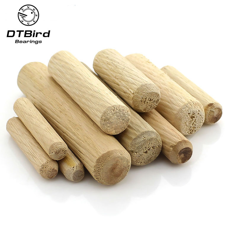 8mm x 50mm FLUTED HARDWOOD WOODEN DOWEL PIN 200 WOODWORKING CABINETS