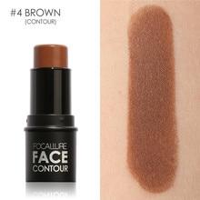 Focallure Face Highlighter&Contouring Makeup Stick 4 Colors Porfessional Whiten 3D Shimmer Contouring Concealer Pen