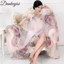 DANKEYISI мода бандана роскошные шарфы для женщин Для женщин бренд шелковый шарф женский платок высокое качество печати хиджаб шаль с великолепным дизайном