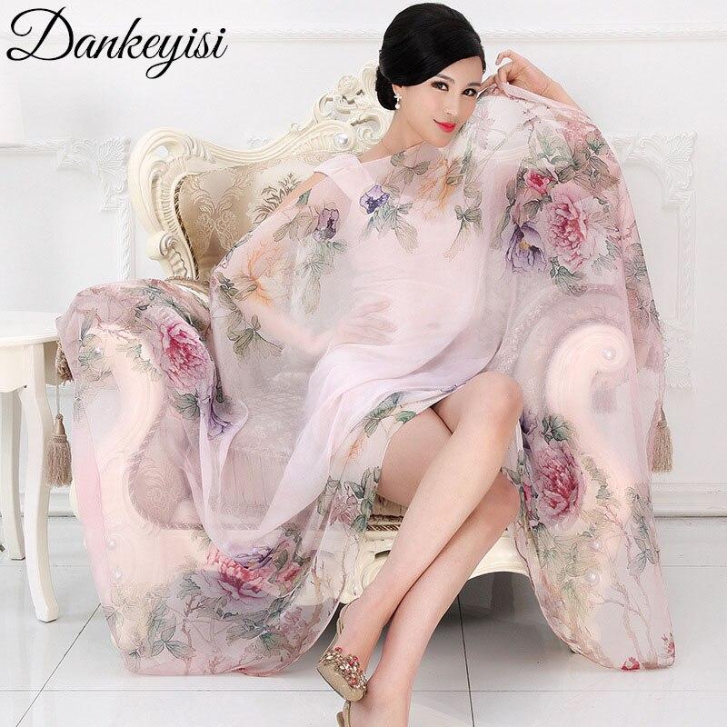 DANKEYISI 2019 Fashion Bandana Luxury Scarves Women Brand Silk Scarf Female Shawl High Quality Print Hijab Luxury Design