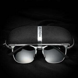 Image 5 - VEITHDIA Unisex Retro Aluminium Magnesium Brand Zonnebril Gepolariseerde Lens Vintage Eyewear Accessoires Zonnebril Mannen/Vrouwen 6630