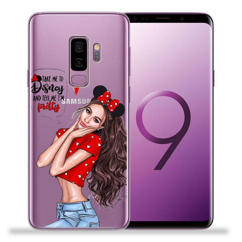 Fashion Girl Case For Funda Samsung Galaxy S9 S8 S10 Plus S7 S6 Edge S10 Lite Note 8 9 Soft Silicone Cover Etui