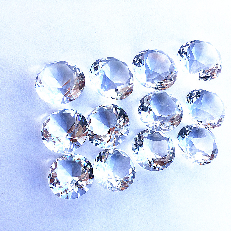 0190fa2a7ab8 80pcs 20mm transparent multi-faceted Crystal wedding Diamond jewel  Paperweight Party Wedding Decorations Centerpiece