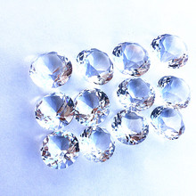80pcs 20mm transparent multi-faceted Crystal wedding Diamond jewel Paperweight Party Wedding Decorations Centerpiece