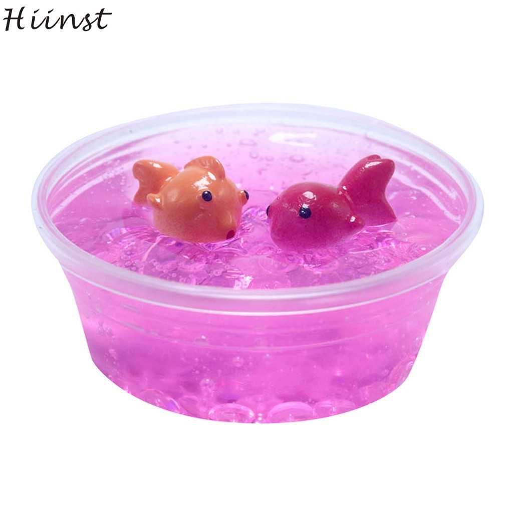HIINST Kids Children Toys Kids Charm Fishbowl Bead Colour Goldfish Slime Great Gift Toys Stress Reliever Toy Gifts for Children