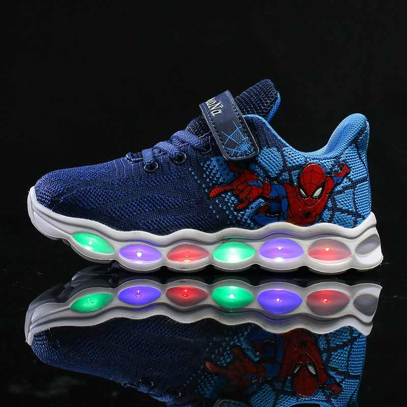 0542a0ef89f ... 2019 New tiktok INS spiderman kids led shoes for boys baby sneakers  kids children Fashion comfort ...
