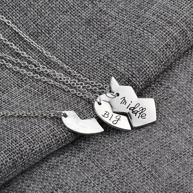 High Quality 1 pair (3pcs) Zinc Alloy Pendant & Necklace Gift