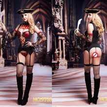 High Quality Caribbean Pirate Costumes for Women Ladys Erotic Sexy Lingerie Cosplay lingerie sets