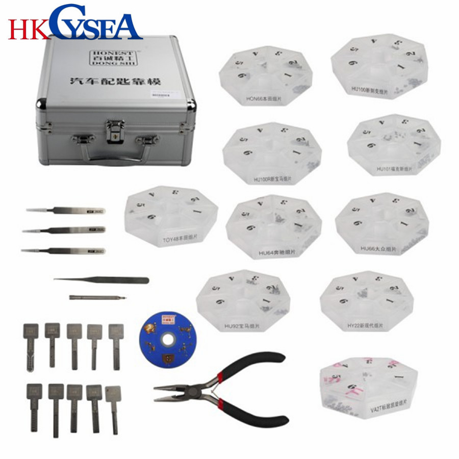 HKCYSEA Auto Gear Modeing Include 10 Pieces Locksmith Tool for Car Auto Key Profile Modeling